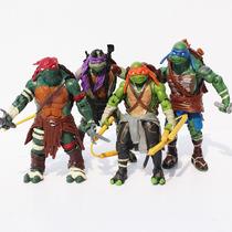 Tartarugas Ninja Filme 4 Bonecos Articulados Em Pvc