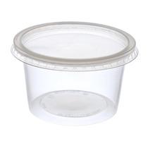Pote De Plástico Descartável Para Alimentos Com Tampa 1000