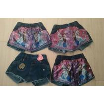 Shorts/saia Frozen Infantil