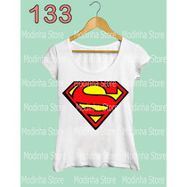 Blusa Tshirt Feminina Estampa Superman Super Home Moda Look