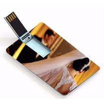 Kit 100 Un Pen Drive Cartão ( Pen Card ) 8gb, Personalizado
