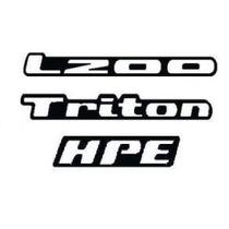 Kit Adesivos Resinados L200 Triton Hpe