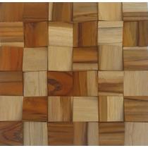 Mosaico Madeira Cunha - Pastilhas - 30cm X 30cm