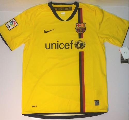 Camisa Barcelona 2008  nike  barça  nova  amarela  zerada 33448d306a151