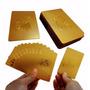 Baralho Folheado Ouro 24k Carat Gold