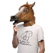 Máscara Cabeça De Cavalo Marrom - Fantasia Horse