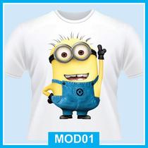 Camiseta Infantil Minions, De 1 A 12 Anos, Desenho, Cinema