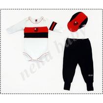 Conjunto Flamengo Longo Body Com Boné Oficial Licenciado