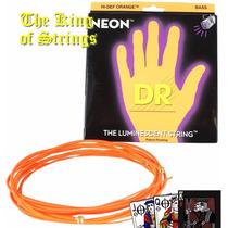 Encordoamento P/ Baixo De 6 Cordas Dr Neon - Laranja