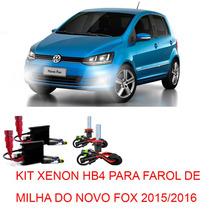 Kit Xenon Hb4 8000k Para Farol Milha Do Novo Fox 2015 2016