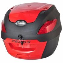 Bau Moto Bauleto 41 Litros Proos Preto Vermelho Frete Grátis