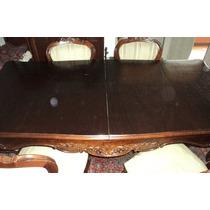 Mesa De Jantar Com 6 Cadeiras E Aparador (buffet)