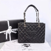 Chanel Shopper Lambskin Couro Original, Fotos Reais Na Caixa