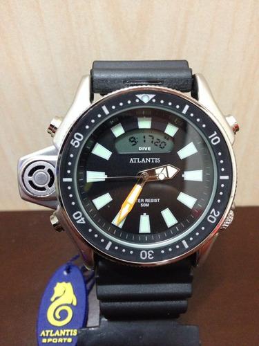 20454261dea Relogio Atlantis G3220 Serie Prata Aqualand Co22  citzen - R  109 en ...