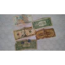 Notas Brasileira Antigas E Dólar
