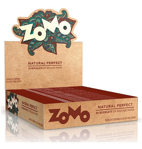 Caixa Seda Zomo Perfect Natural Brown Marrom King Size C/ 25