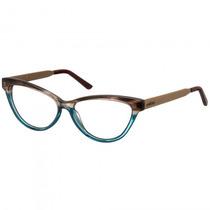 Armação Óculos Grau Colcci C6021f0554 Marrom Azul - Refinado