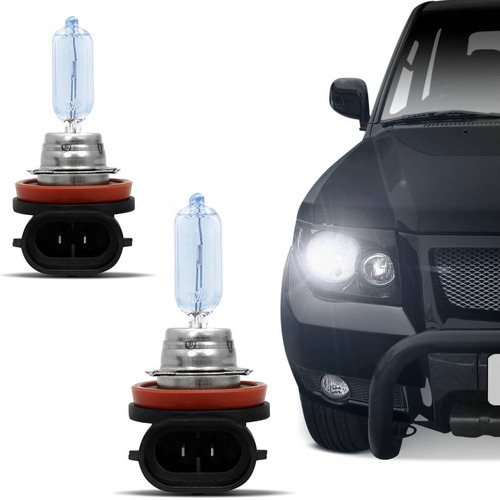 Lâmpada Super Branca Carro H9 12v 65w Blue Power