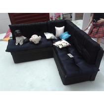Novo Sofá Para Casa Da Barbie - Madeira Mdf