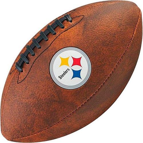 5c8791720d1c3 Bola Futebol Americano Wilson Throwback Pittsburgh Steelers