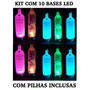 Kit 10 Bases De Led - Garrafa Que Pisca, Vodka, Absolut