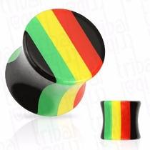 Alargador De Orelha (plug) Reggae 12, 14, 16 E 20mm