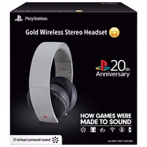 Headset Gold 7.1 Wireless 20th Anniversary Sony Ps3 Ps4 Vita