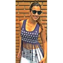 Blusa Feminina Regata Top Tiras Fitas Blogueiras Panicat