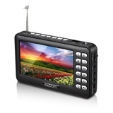 Mini Tv Digital Portatil 4.3   Com Tela Lcd