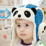 Gorro Infantil Urso Panda Aviador Touca Chapéu-pront Entrega