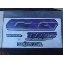 Honda Cg 125 Titan 95 Cinza - Jogo De Adesivos / Faixas Comp