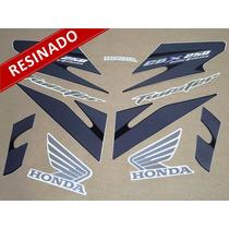Kit Adesivos Cbx Twister 250 2008 Preta - Resinado - Decalx