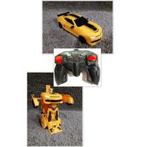 Carro Bumblebee Transforme Controle Remoto Vira Robo