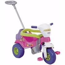 Triciclo Bichos Rosa Com Aro E Haste Tico Tico Menina Magic