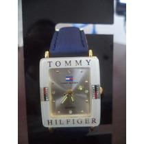 Relógio Feminino Tommy Coroa Retang. Dourada Visor Dourado