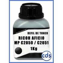 Refil De Toner Kilo Ricoh Aficio Mp C2050 2051 Black 1kg