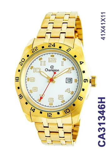c493f18095f Relógio Masculino Champion Dourado Branco Ca31346h Original