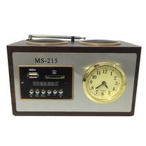 Caixa De Som Mini De 6w Rms Sd/usb/fm Ms-215 Com Controle