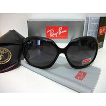 Óculos De Sol Ray Ban 4098 Preto Jack Ohn Lente Preta Degrad