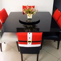 Kit 4 Capa Cadeira Natalina Roupa Do Papai Noel Feliz Natal