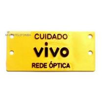 Placa Cuidado Cabo Óptico (1400 Unidades) Em Amarelo Padrão