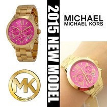 Relógio Michael Kors Mk5924 Dourado E Pink Completo