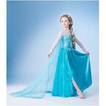Fantasia Vestido Elsa/anna Frozen 2 A 10 Anos Promoção