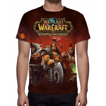 Camisa, Camiseta Game World Warcraft Warlords Of Draenor