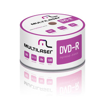 Dvd-r Multilaser 8x 4.7gb Printable - 50 Unidades (shrink)