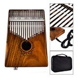 17 Chaves Eq Kalimba Acacia Thumb Piano