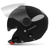 Capacete-New-Atomic-Preto-Fosco-Pro-Tork-Solid-Aberto-Moto