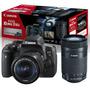 Câmera Canon Rebel T6i Premium   Lente 18 55   55 250   Nf e