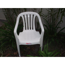 Cadeiras Poltrona De Plástico Bistrô Goyana -unica 140kg