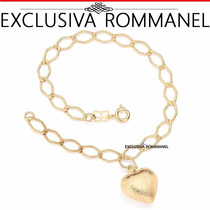 Rommanel Pulseira Feminina Ouro 18k Folheada Berloque 550964